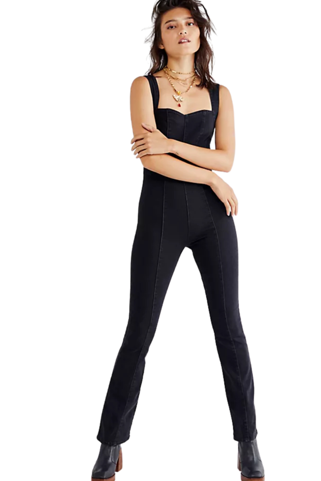 Free People  Light My Fire Jumpsuit - Front Full Image