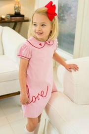 Lullaby Set Light-Pink-Pique Love Dress - Front cropped