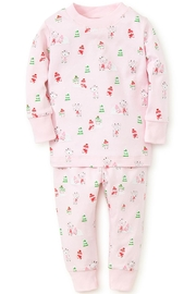 Kissy Kissy Light-Pink Snow-Day Pajama-Set - Front cropped