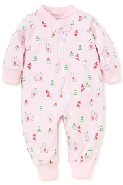 Kissy Kissy Light-Pink Snow-Day Zipper-Pajama - Front cropped