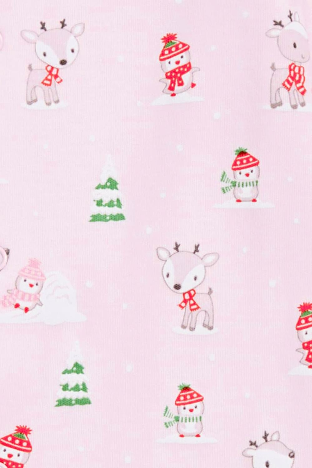 Kissy Kissy Light-Pink Snow-Day Zipper-Pajama - Side Cropped Image