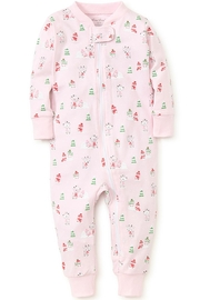 Kissy Kissy Light-Pink Snow-Day Zipper-Pajama - Front full body