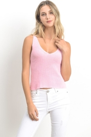 Le Lis Light-Pink Sweater Tank - Product Mini Image