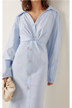 Shoptiques Product: LIGHT POPLIN BUNCH SHIRTDRESS