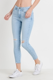 just black Light Skinny Jeans - Front cropped
