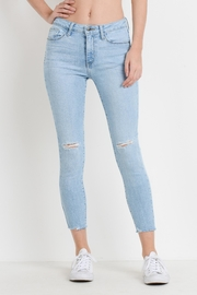 just black Light Skinny Jeans - Front full body