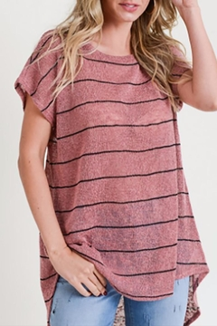 Shoptiques Product: Light Striped High-Low