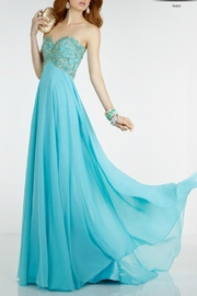 Alyce Paris Light Turquoise Gown - Product Mini Image