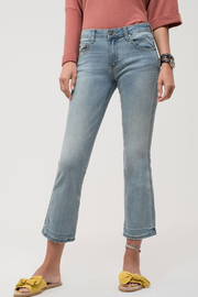 EVIDNT Light Wash Denim Cropped Jeans - Product Mini Image