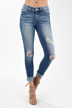 Kan Can Light Wash Distressed Denim - Product List Image