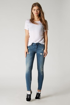 BlankNYC Light-Wash Distressed Skinny - Product List Image