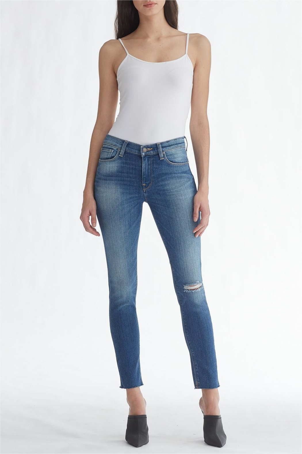 Hudson Jeans Light-Wash Ripped-Knee Ankle-Skinny - Main Image