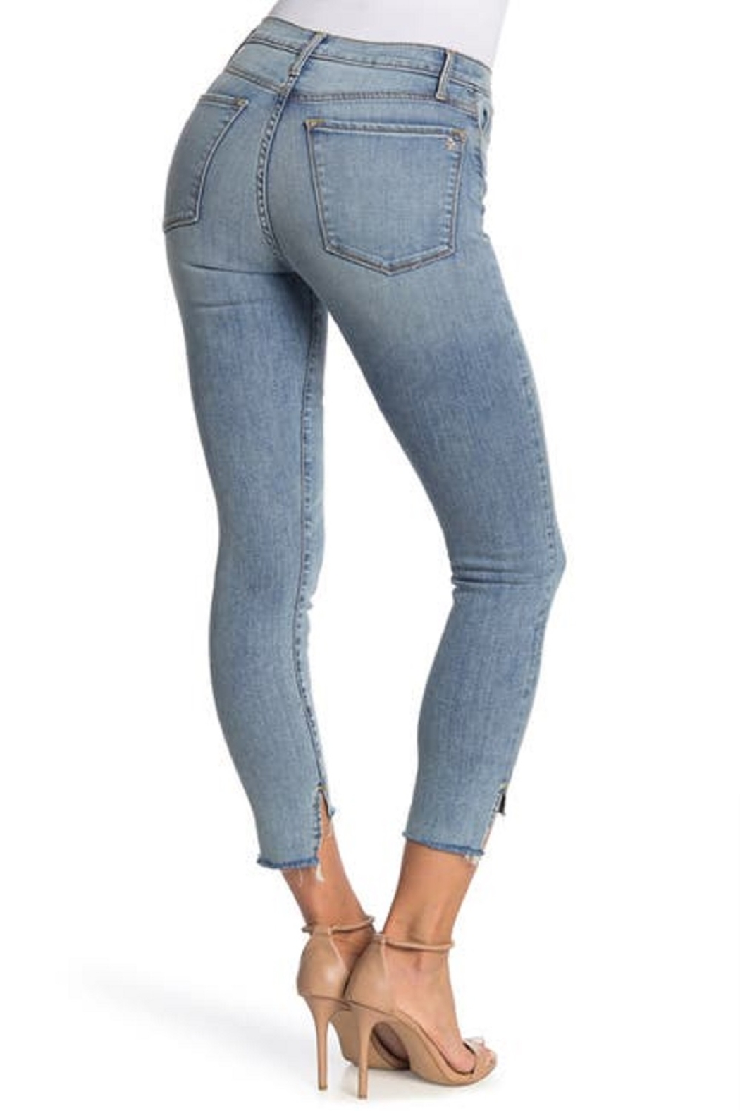 Black Orchid Denim Light Wash Step Hem Jeans - Front Full Image