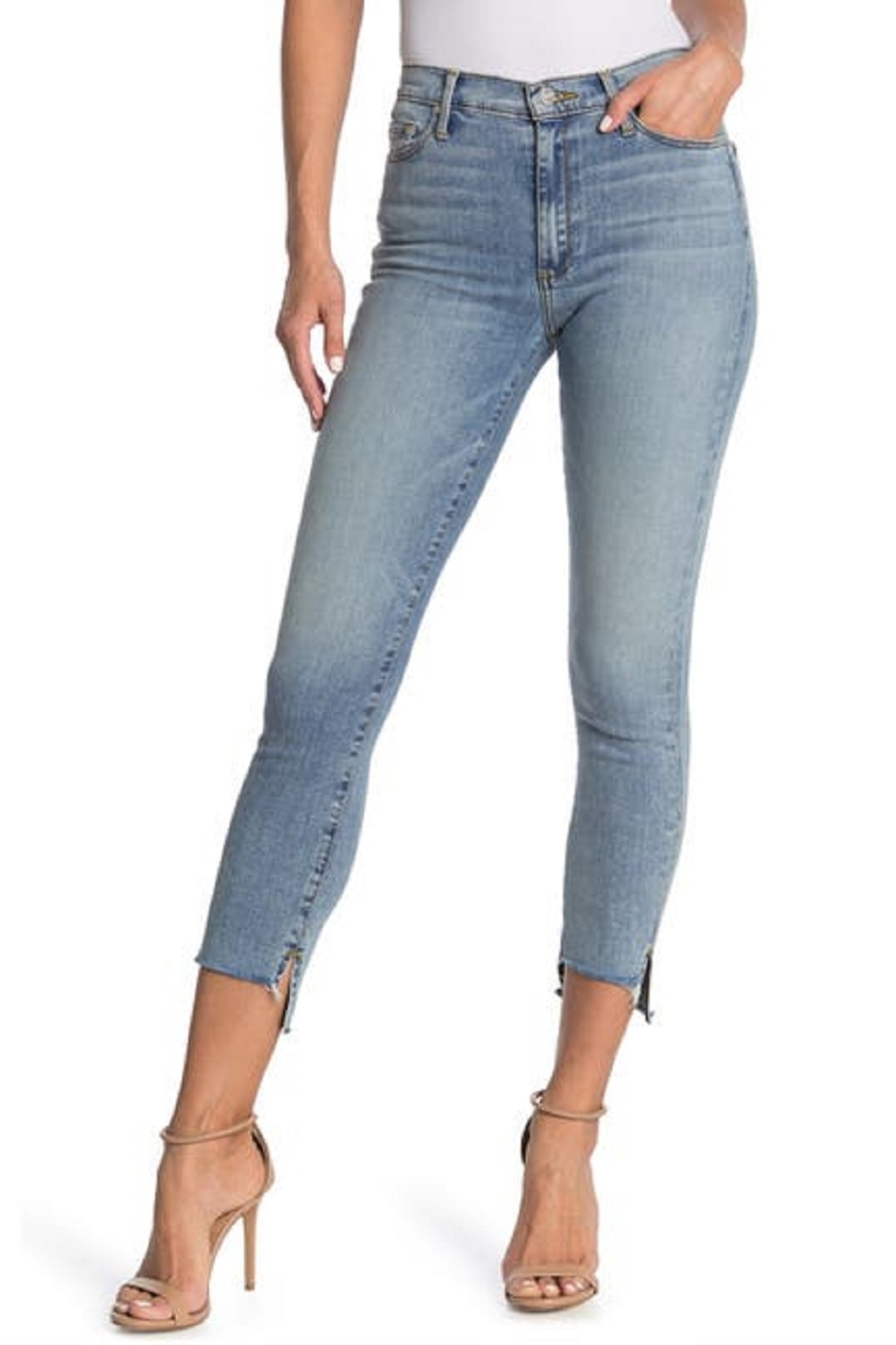 Black Orchid Denim Light Wash Step Hem Jeans - Main Image