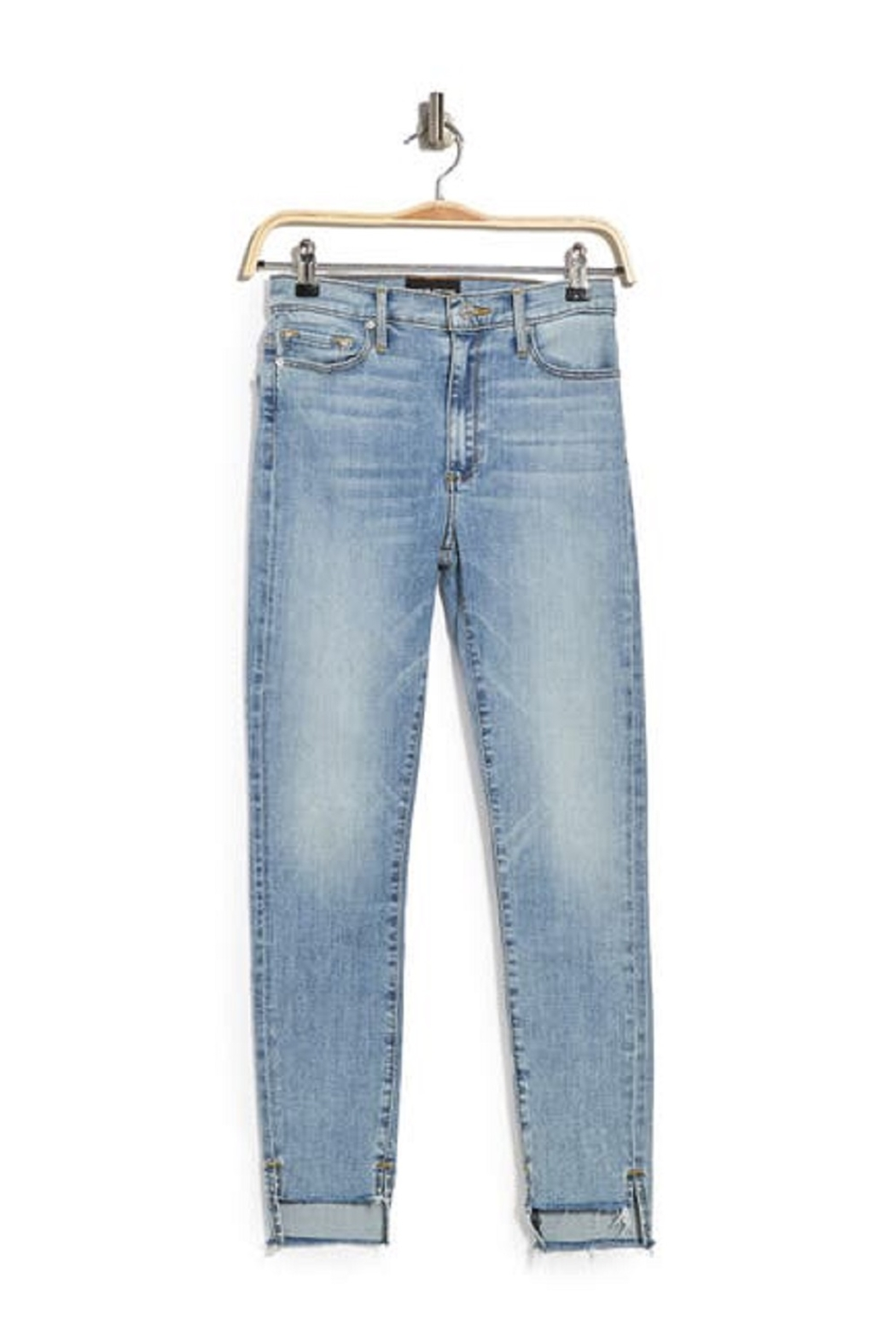 Black Orchid Denim Light Wash Step Hem Jeans - Side Cropped Image