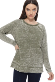 TParty Light Washed Long Sleeve Top - Product Mini Image