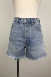 By Together Light Washed Shorts with Side Slit - Product Mini Image