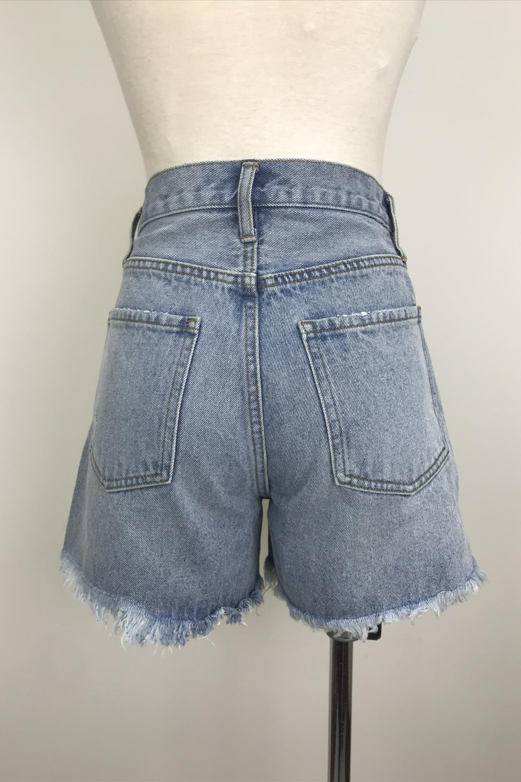 By Together Light Washed Shorts with Side Slit - Front Full Image