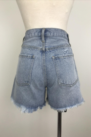 By Together Light Washed Shorts with Side Slit - Front full body