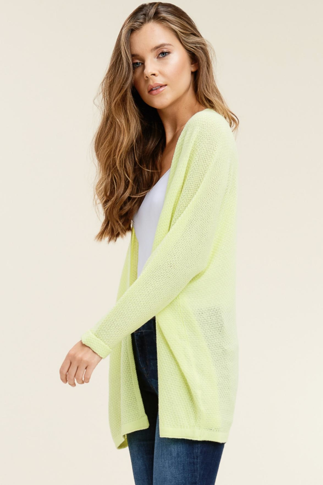 Staccato Light Weight Cardigan - Side Cropped Image