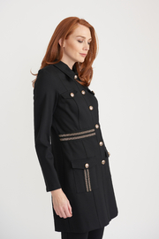 Joseph Ribkoff Light Weight Military Jacket with Gold Details - Product Mini Image