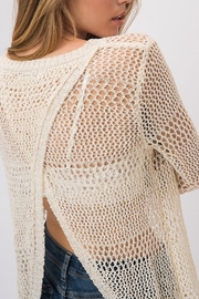 Cozy Casual  Light Weight Open Back Sweater - Product Mini Image
