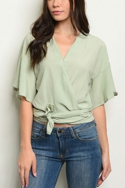 Lyn -Maree's Light Weight Wrap Blouse - Product Mini Image