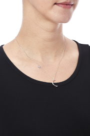 Light Years Collection Crescent Moon Necklace - Back cropped