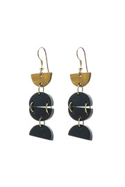 Light Years Collection Flowing Crescent Earrings - Product Mini Image