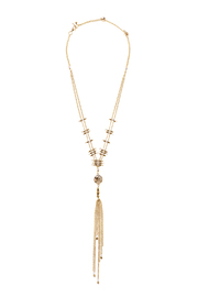 Light Years Collection Labradorite Tassel Necklace - Front cropped