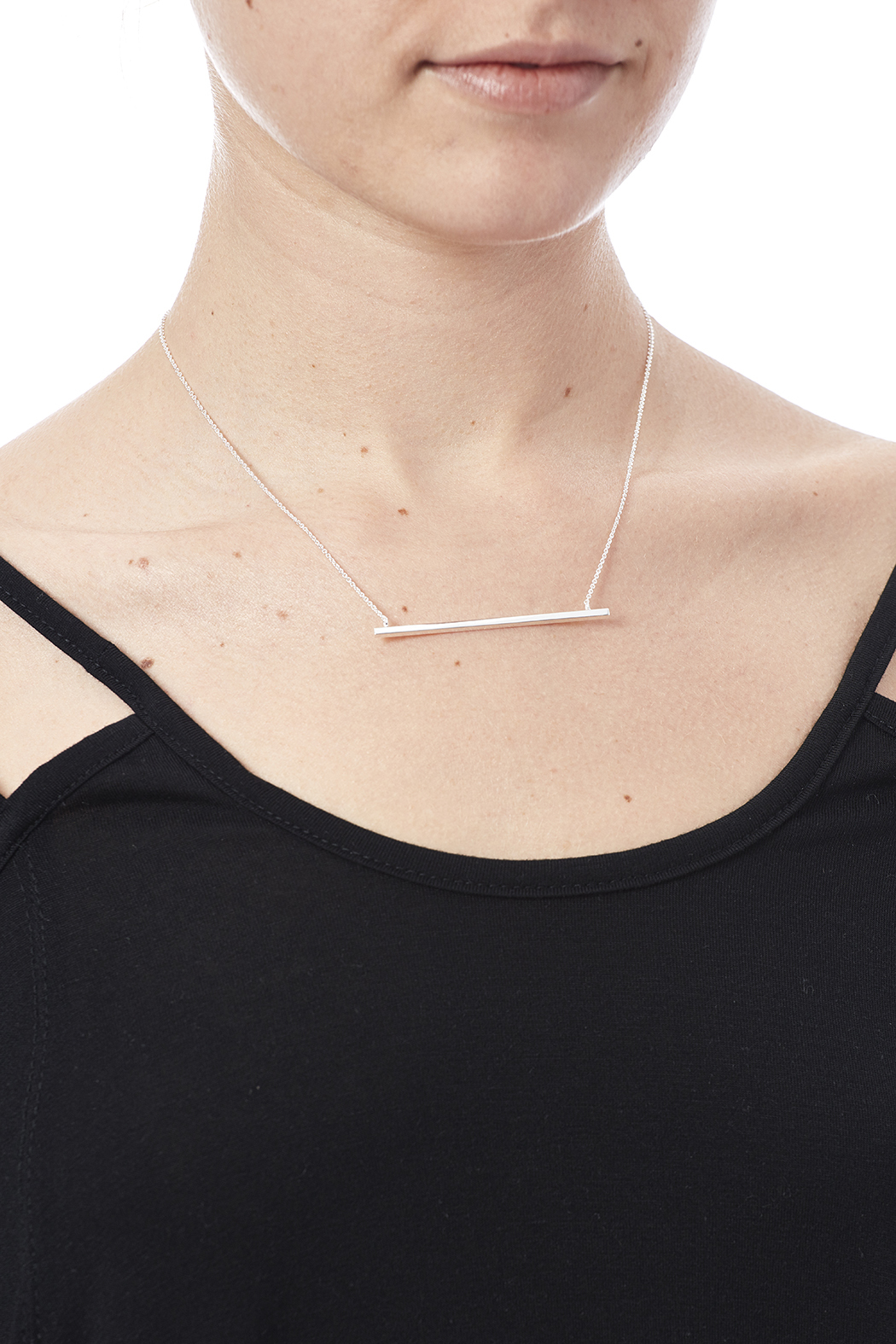 Light Years Collection Large Swinging Bar Necklace - Back Cropped Image