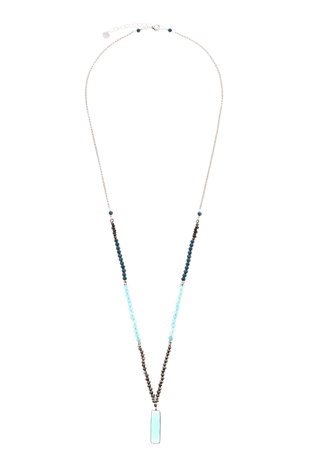 Light Years Collection Stone Rectangle Necklace - Front Cropped Image