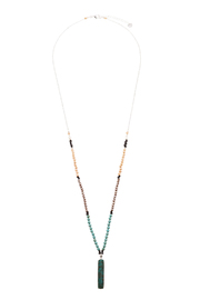 Light Years Collection Stone Rectangle Necklace - Product Mini Image