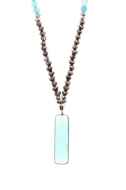 Light Years Collection Stone Rectangle Necklace - Front full body