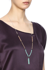 Light Years Collection Stone Rectangle Necklace - Back cropped