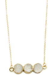 Light Years Collection Triple Druzy Circles Necklace - Front full body