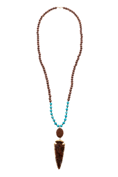 Shoptiques Product: Wood And Arrowhead Necklace