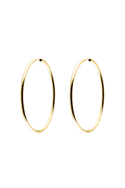 Light Years Jewelry Gold Endless Hoops - Front cropped