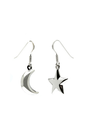 Light Years Jewelry Moon & Star Dangles - Product Mini Image