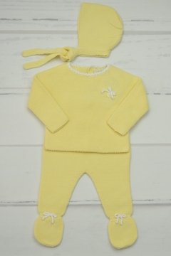 Shoptiques Product: Light-Yellow Newborn Outfit
