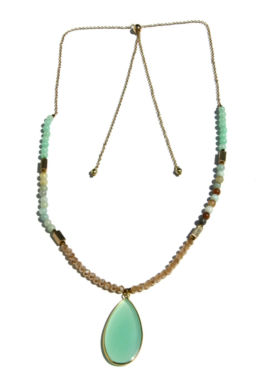 Light Years Collection Adjustable Beaded Necklace - Front Cropped Image