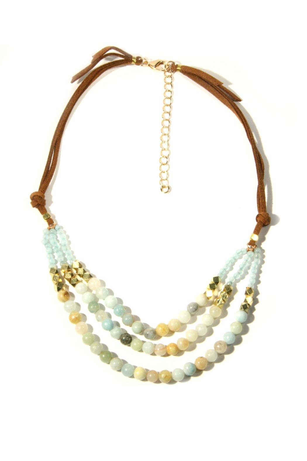 Light Years Collection Amazonite & Suede Necklace - Main Image