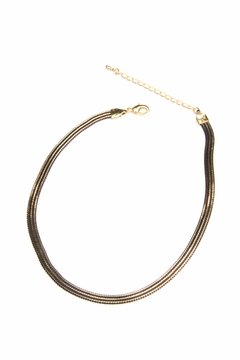 Light Years Collection Black & Gold Choker - Product List Image