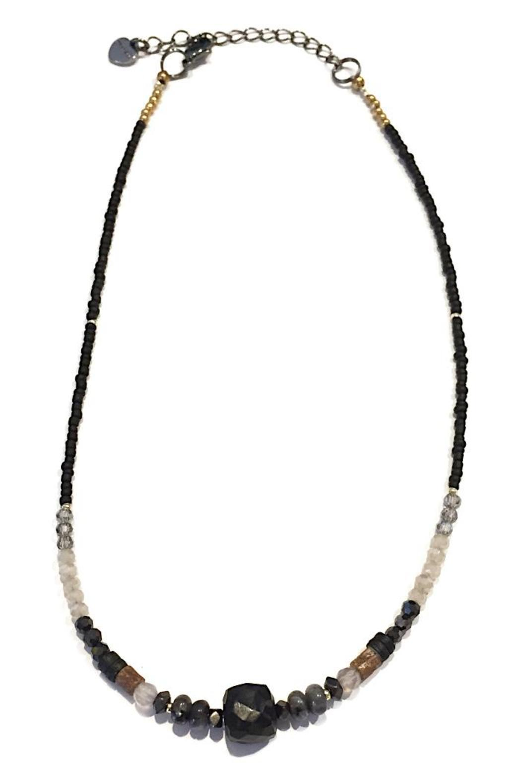 light years collection black stone necklace from chapel. Black Bedroom Furniture Sets. Home Design Ideas