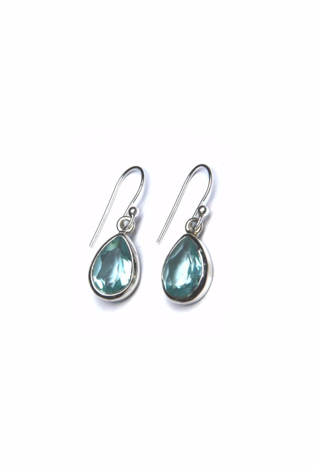 Light Years Collection Blue Topaz Dangles Earrings - Main Image