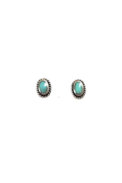 Shoptiques Product: Bordered Turquoise Posts