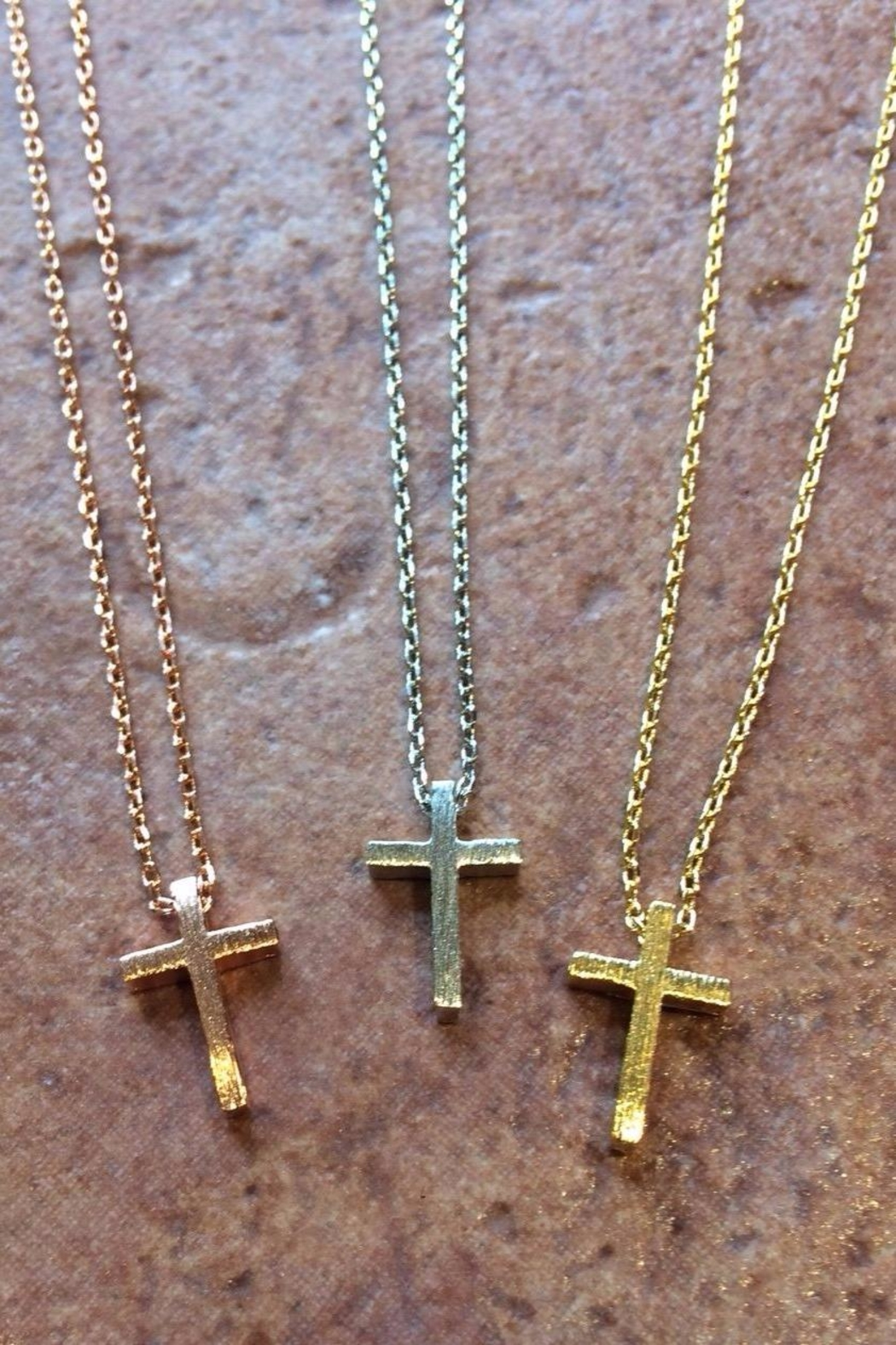 Light Years Collection Brushed Cross Necklace - Main Image
