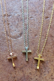 Light Years Collection Brushed Cross Necklace - Product Mini Image