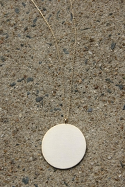 Light Years Collection Brushed Disc Necklace - Product Mini Image