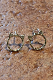 Light Years Collection Cat Ear Studs - Front cropped